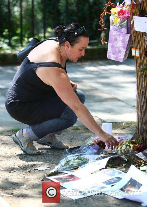 Tributes outside Amy Winehouse's house in Camden on...