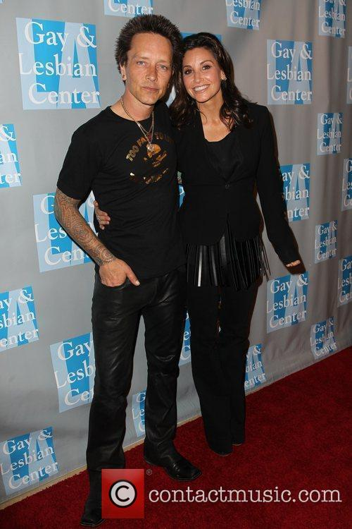 Billy Morrison, Gina Gershon and Beverly Hilton Hotel