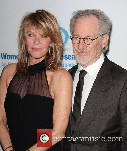 Steven Spielberg, Kate Capshaw and Beverly Hilton Hotel 1