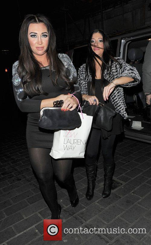 Lauren Goodger and a friend arrive at Anaya...