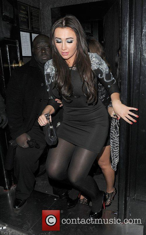 Lauren Goodger is ejected from Anaya nightclub, following...