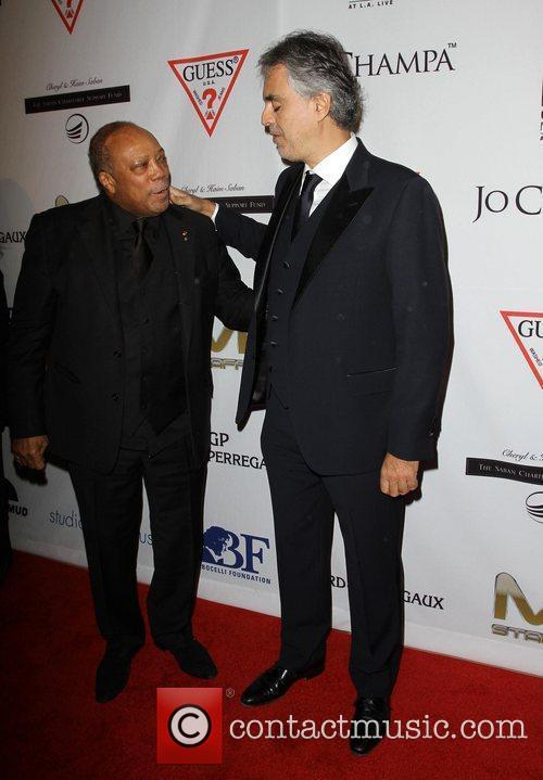 Quincy Jones, Andrea Bocelli and Beverly Hilton Hotel 1
