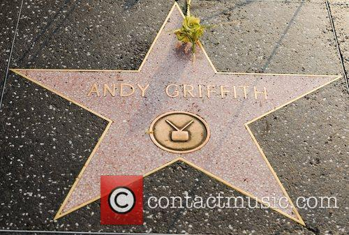 Tributes to the late Andy Griffith, left on...