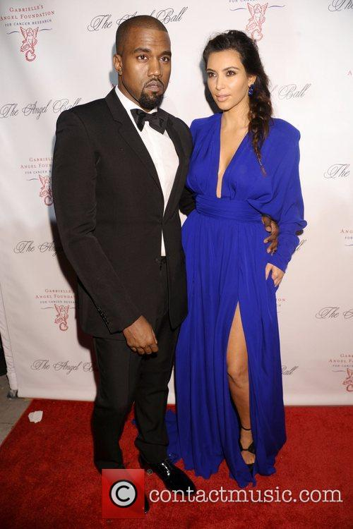 Kanye West and Kim Kardashian The Angel Ball...