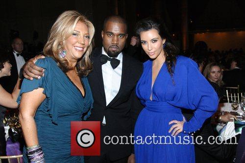 Denise Rich, Kanye West, and Kim Kardashian The...