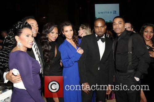 Kanye West, Smokey Robinson, Ashanti, Kim Kardashian, Frances Robinson and Nelly 11
