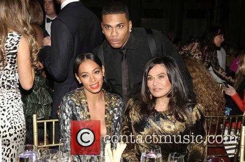 Solange Knowles, Nelly, Tina Knowles and The Angel Ball 7