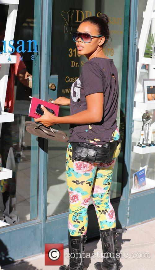 Angela Simmons out and about in Beverly Hills.