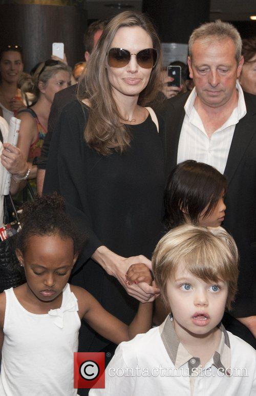 Angelina Jolie with kids