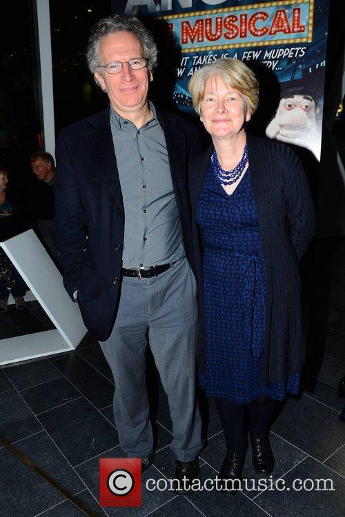 Fintan O'Toole & Clare Connell Guests arrive for...
