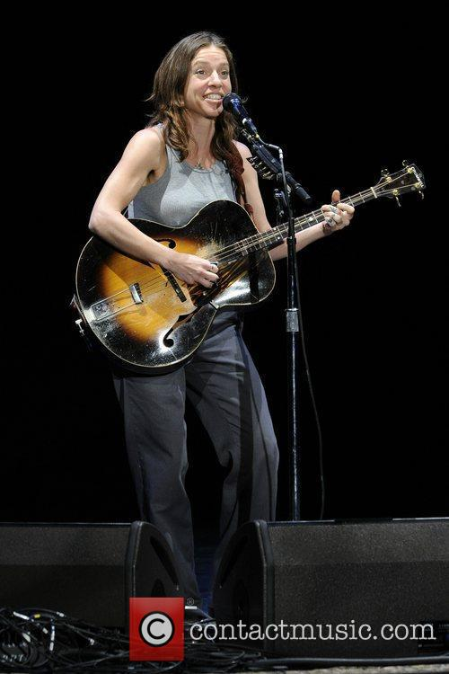 Ani DiFranco  performs on stage at The...