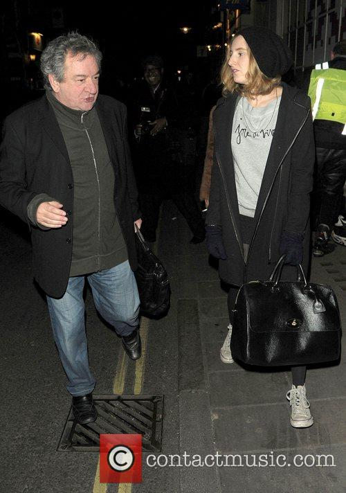 Ken Stott and Laura Carmichael leaving the Vaudeville...