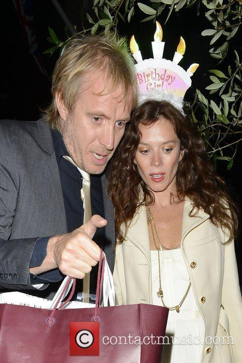 Anna Friel celebrates her birthday at The Ivy...