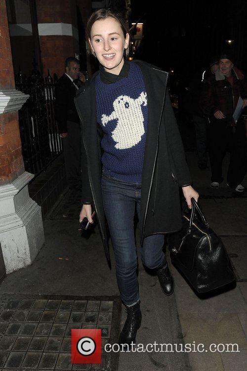 laura carmichael leaving the vaudeville theatre after 4173939