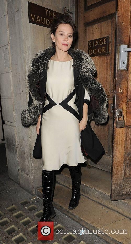 anna friel leaving the vaudeville theatre after 4156692