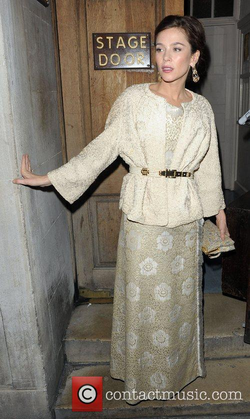 Anna Friel  leaving the Vaudeville Theatre after...