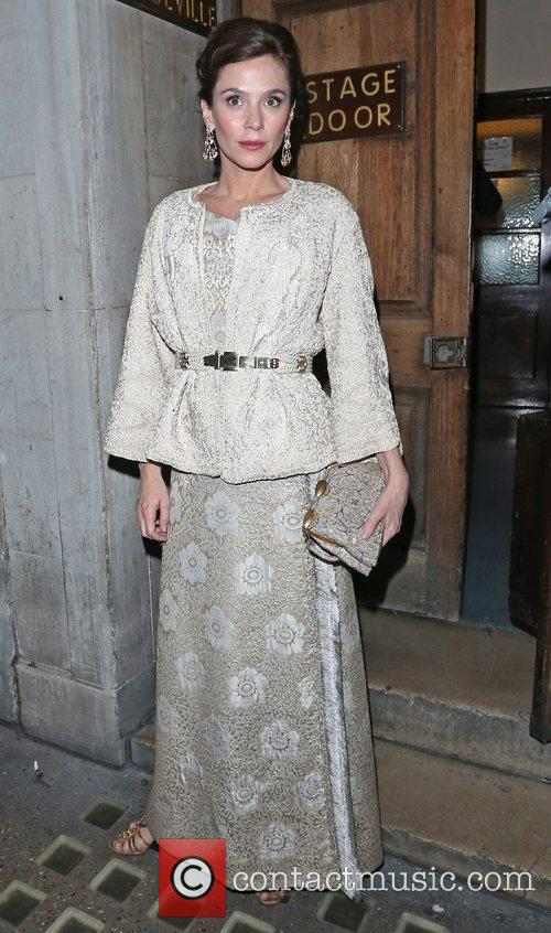 Anna Friel  leaves the Vaudeville Theatre after...