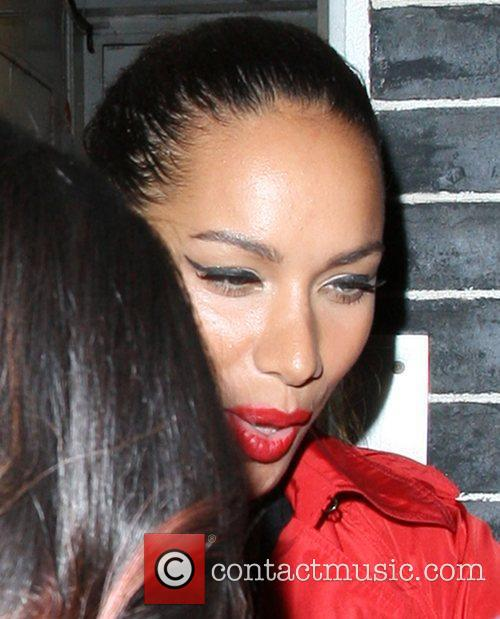 Leona Lewis leaving Annabel's by the back door...