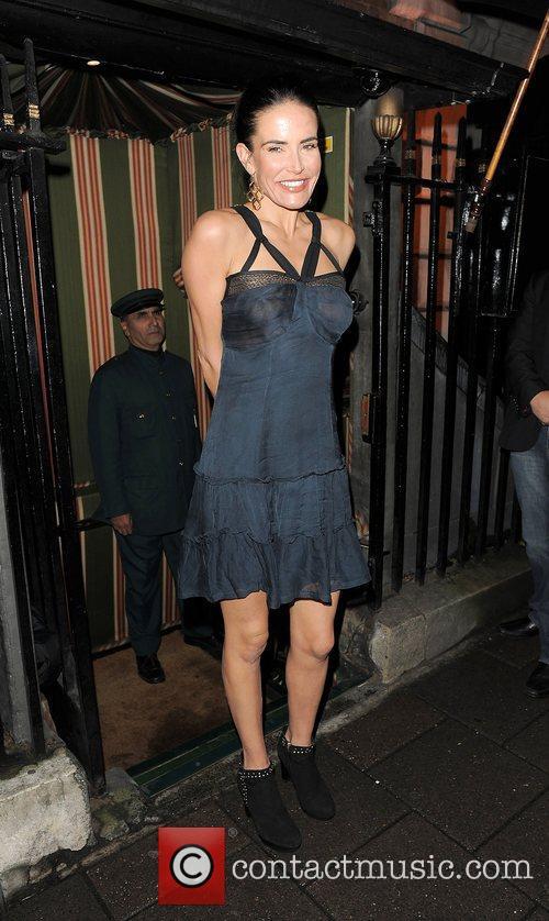 Sophie Anderton arriving at Annabel's private members club...