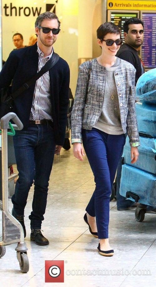 anne hathaway and adam shulman arriving at 3994535