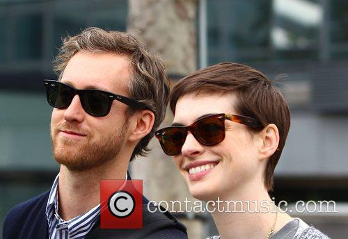 anne hathaway and adam shulman arriving at 3994542