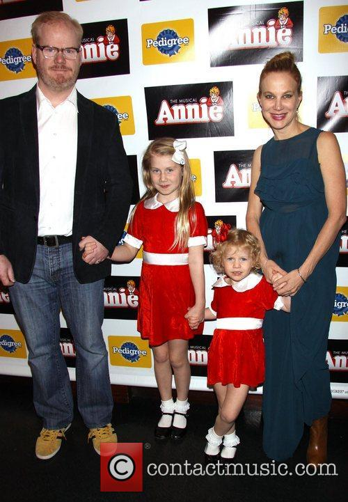 Opening night of the Broadway musical 'Annie' at...