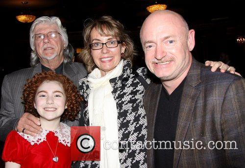 Martin Charnin, Gabrielle Giffords, Mark E. Kelly, Lilla Crawford and Palace Theatre 3