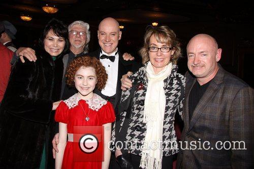 Shelly Burch, Martin Charnin, Anthony Warlow, Lilla Crawford, Gabrielle Giffords, Mark E. Kelly and Palace Theatre