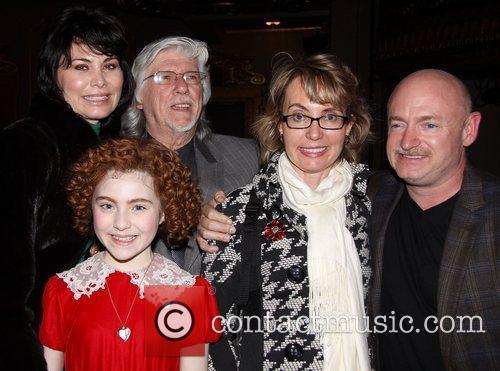 Shelly Burch, Martin Charnin, Lilla Crawford (in costume),...