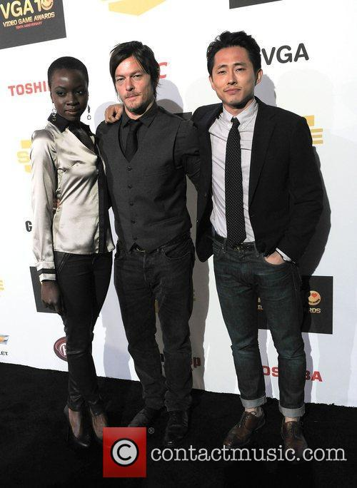 Danai Gurira, Narman Reedus, Steven Yeun and The Walking Dead 2