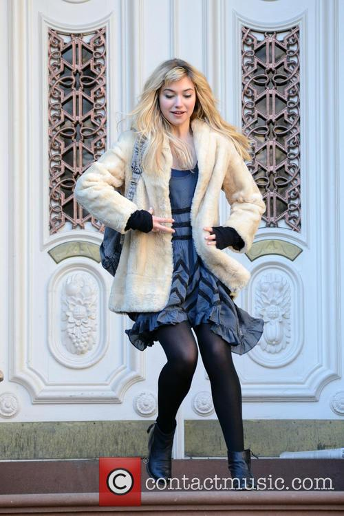 Imogen Poots Celebrities on the set of the...