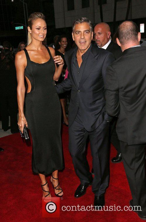 Stacy Keibler and George Clooney 'Argo' - Los...