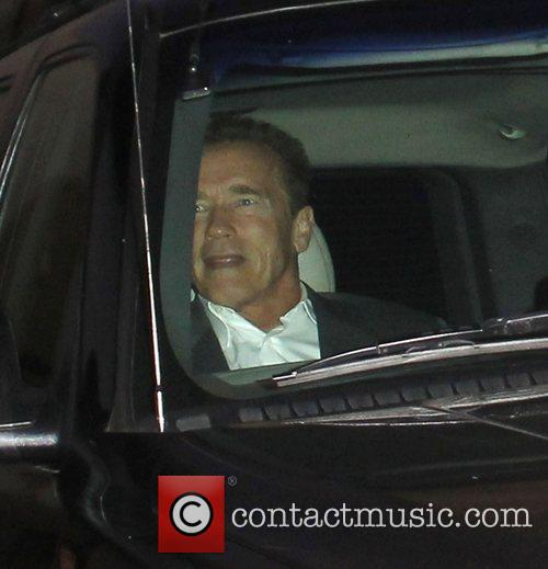 Arnold Schwarzenegger arrives at The Grove ahead of...