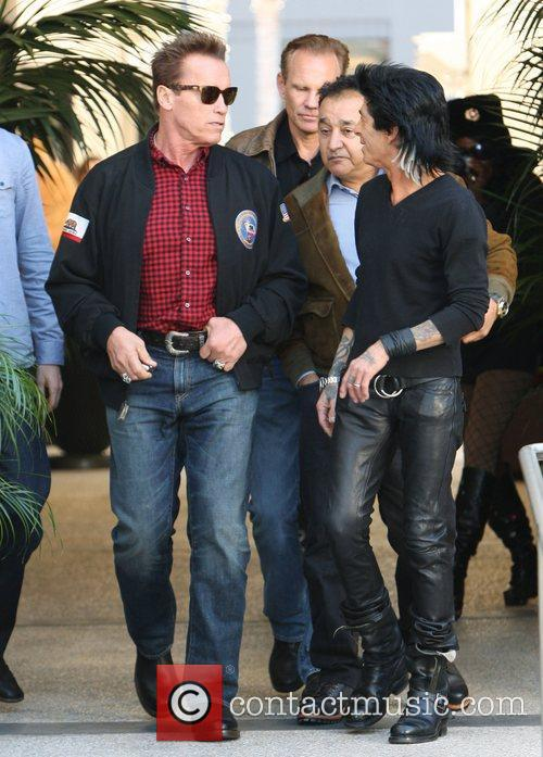 arnold schwarzenegger is seen leaving giuseppe franco 3638937