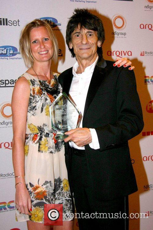 ronnie wood and producer claire neal arqiva 3977623