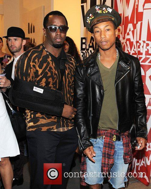 Sean Combs and Pharrell Williams 5