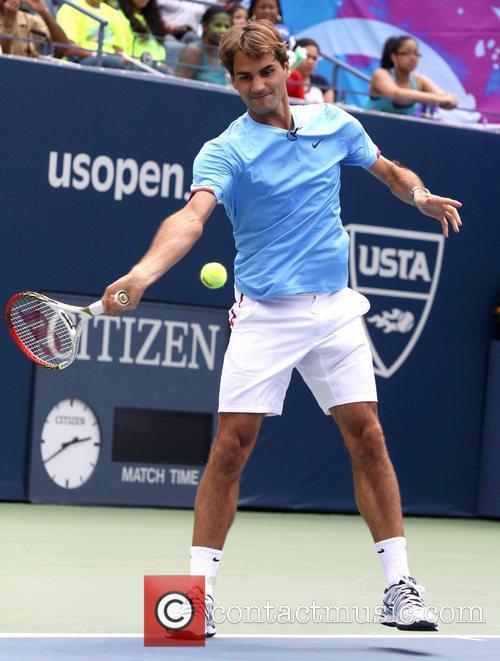 Roger Federer Arthur Ashe Kids' Day 2012 at...