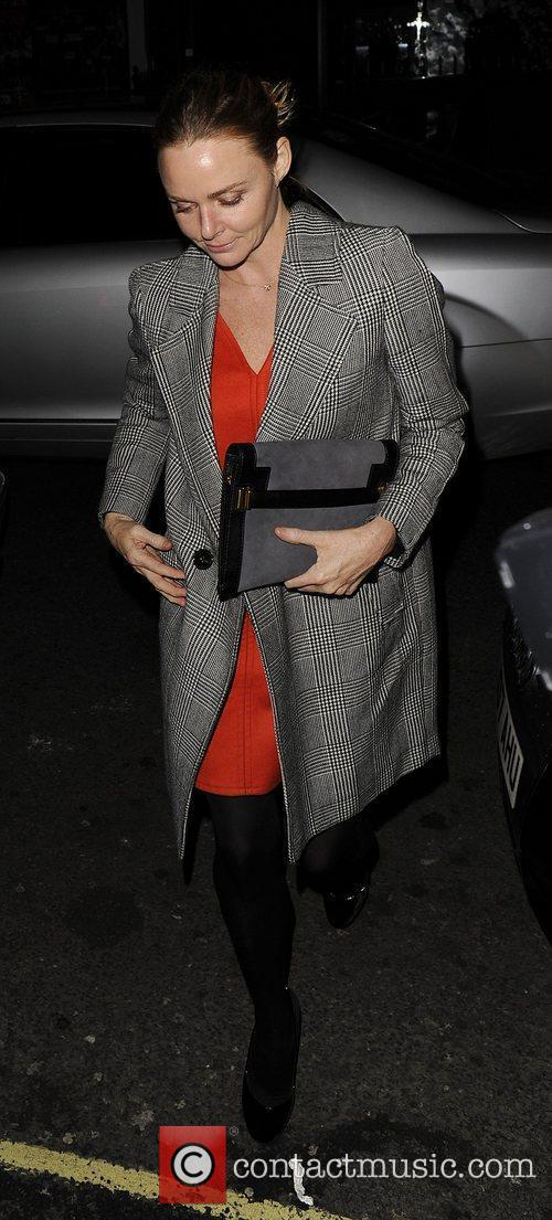 Stella McCartney arriving at The Arts Club, Mayfair....
