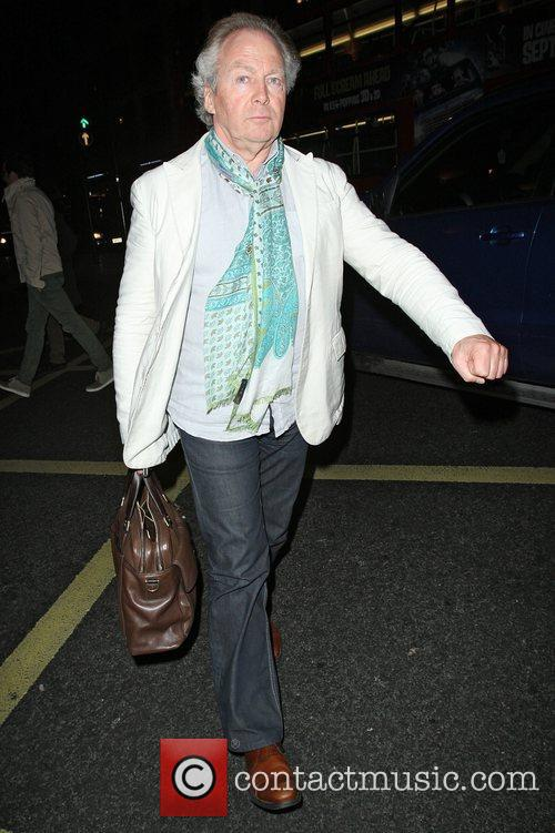 Richard Holloway leaving the Arts Club in Mayfair...