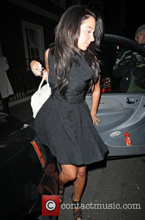Tulisa Contostavlos leaving the Arts Club in Mayfair...