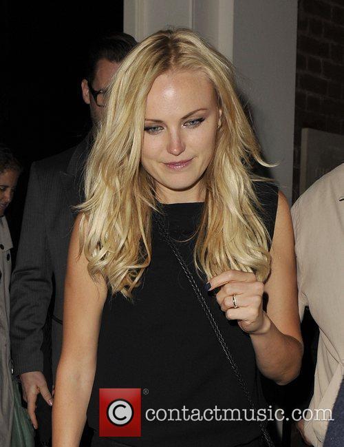 Swedish movie star leaving the Arts Club, Mayfair