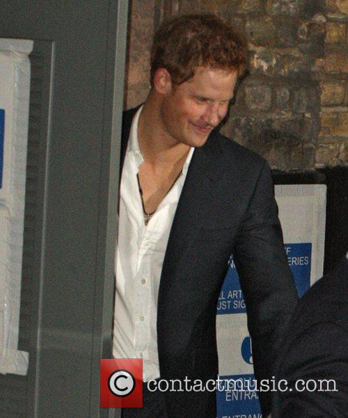 Prince Harry leaving the Arts Club in Mayfair...
