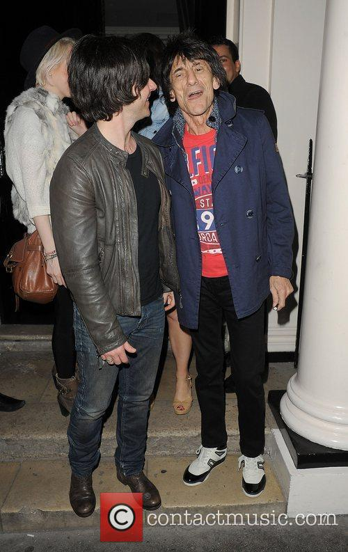 Ronnie Wood and Kelly Jones leaving The Arts...
