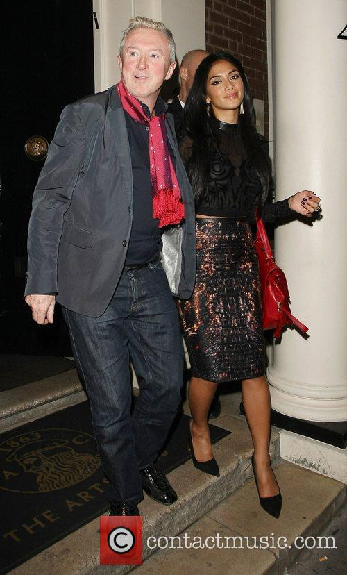 Louis Walsh and Nicole Scherzinger leaving the Arts...