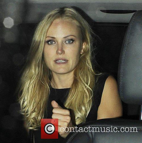 Swedish film star Malin Akerman leaving the Arts...