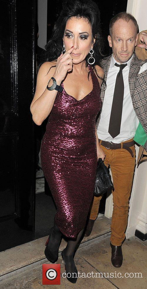 Nancy Dell'Olio leaving the Arts club in Mayfair.