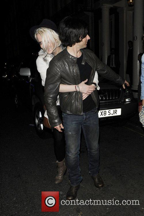 Kelly Jones leaving The Arts Club. London, England