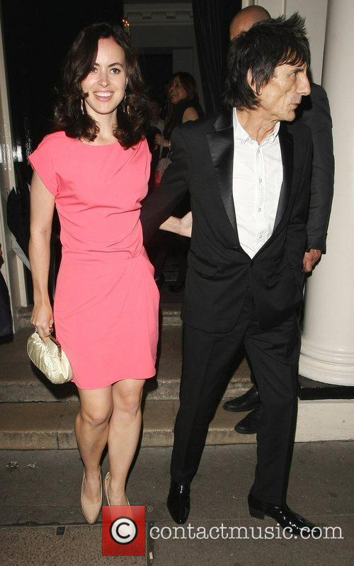 ronnie wood and girlfriend sally humphries leaving 3977049