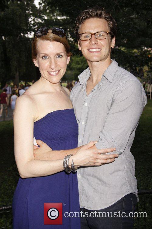 Susan Blackwell and Jonathan Groff  Opening night...