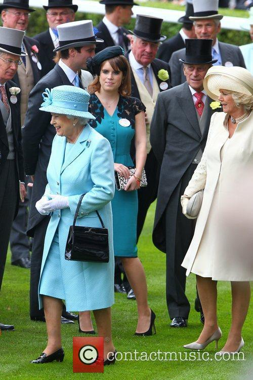 Queen Elizabeth Ii, Prince Philip and The Duchess Of Cornwall 4